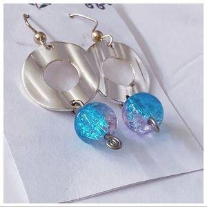 French hook drop earrings, mermaid chill